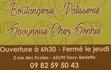 Carte Boulangerie Patisserie Savynoise Chez Sophie